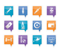 Car Parts and Services icons Royalty Free Stock Photography