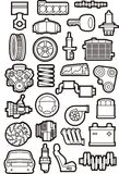 Car parts set Stock Photos