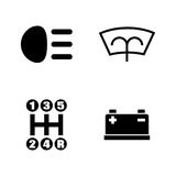 Car parts. Simple Related Vector Icons Stock Image