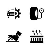 Car parts. Simple Related Vector Icons Royalty Free Stock Photography