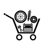 Car parts store Stock Images