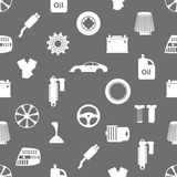 Car parts store simple icons seamless pattern eps10 Stock Photos