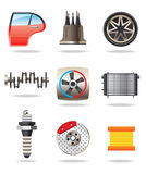 Car parts and symbols Royalty Free Stock Photography