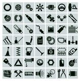 Car parts, tools and accessories Stock Image