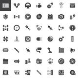Car parts vector icons set Stock Image