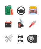 Car parts vector set. Car service vector icon set. Car parts sho Stock Image