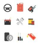 Car parts vector set. Car service vector icon set. Car parts sho Stock Photography
