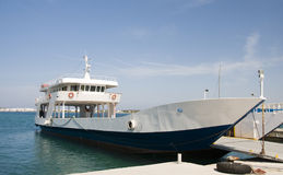 Car and passenger commuter ferry greek islands Stock Photography
