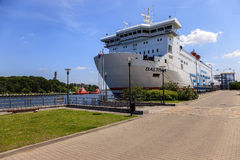 Car - passenger ferry in port Stock Photography