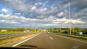 From the car passenger front POV view picturesque landscape