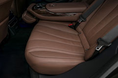 Car passenger leather seat. Stock Photography