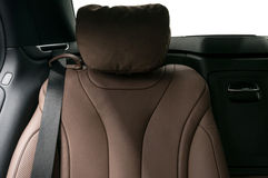 Car passenger leather seat. Royalty Free Stock Photo