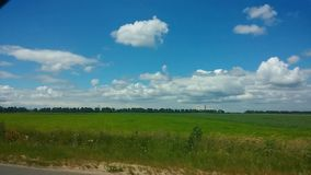From the car passenger side POV view picturesque landscape