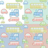 Car pattern for kids Stock Images