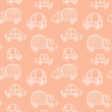 Car pattern. Seamless kids background with sketch cars. Vector illustration Vector Illustration