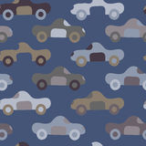 Car Pattern. A simple seamless cars pattern in muted tones Stock Images