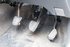 Car pedal. Clutch, Brake and Accelerator Stock Image