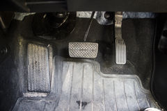 Car pedal. My car pedal quit dirty Royalty Free Stock Images