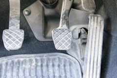 Car Pedals. (clutch, brake and gas/accelerator Royalty Free Stock Image