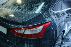Car in penalty fee on car wash Royalty Free Stock Images