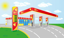 Car petrol station Stock Photos