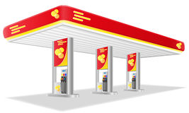 Car petrol station vector illustration Stock Image