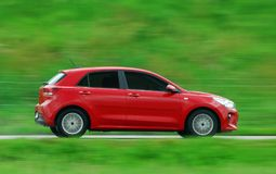 Moving car royalty free stock photos