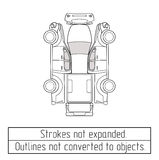 Car pickup truck drawing outlines not converted to objects Stock Photos