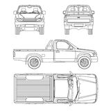 Car pickup truck one cab vector illustration Stock Image