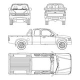 Car pickup truck vector illustration Royalty Free Stock Photo