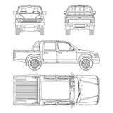 Car pickup truck vector illustration Stock Photography
