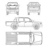 Car pickup truck vector illustration Stock Photography