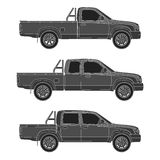 Car pickup truck vector illustration Stock Images