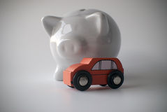 Car and piggy bank Royalty Free Stock Photo
