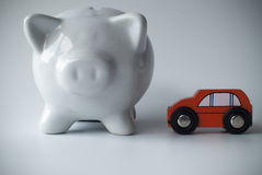 Car and piggy bank Royalty Free Stock Images