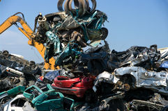 Car pile recycling Royalty Free Stock Images