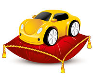 Car on the pillow Royalty Free Stock Photos