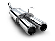 Car pipe only on white background Stock Photo
