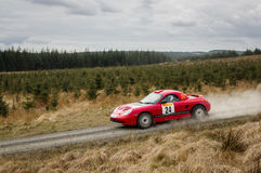 Car at Pirelli International Rally Stock Photography