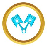 Car piston vector icon Royalty Free Stock Image