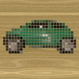 Car pixelated image generated texture Royalty Free Stock Images