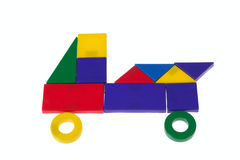 Car from plastic blocks Stock Photo