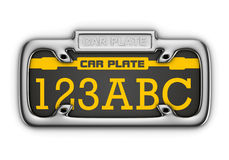 Car plate Royalty Free Stock Photography