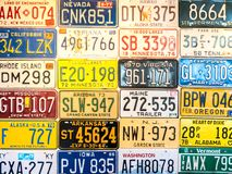 Car plates from United States Royalty Free Stock Photos