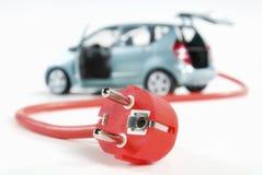 Car and plug Royalty Free Stock Photos