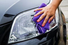 car polishing Royalty Free Stock Photos