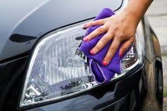 car polishing Royalty Free Stock Photos