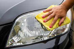 Car polishing Royalty Free Stock Photo