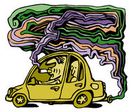 Car pollution Stock Image