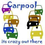 Car pooling pazzo illustrazione di stock